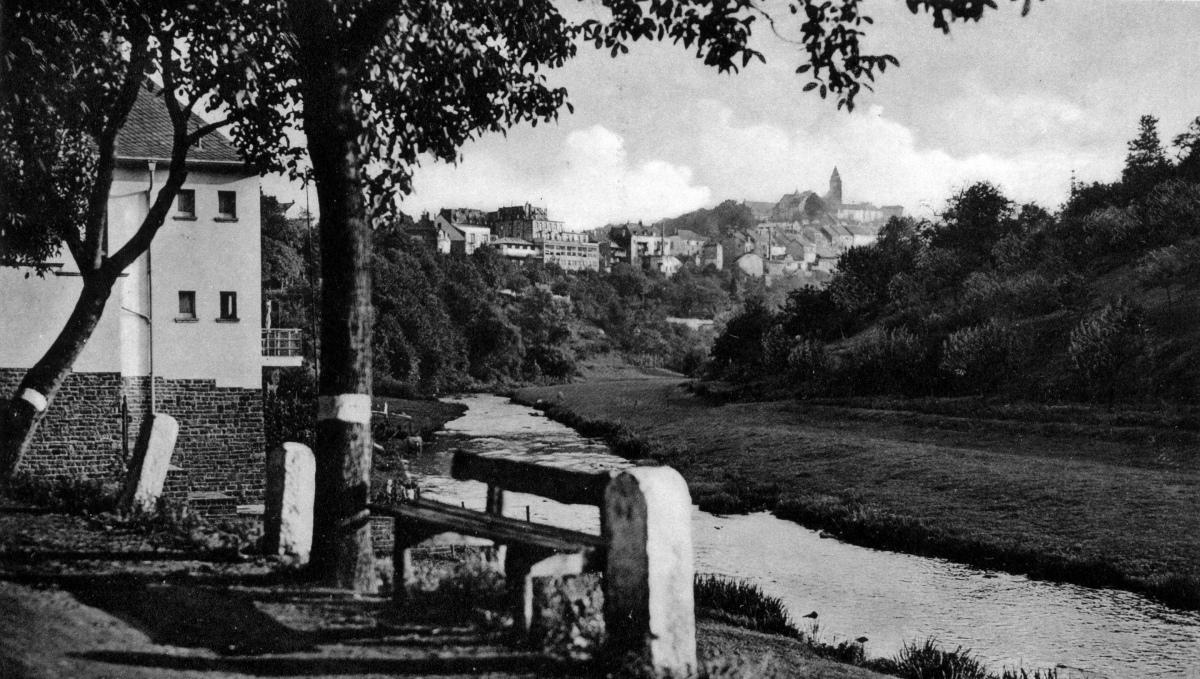 1933 Blick auf Kyllburg vom Malbergerweg