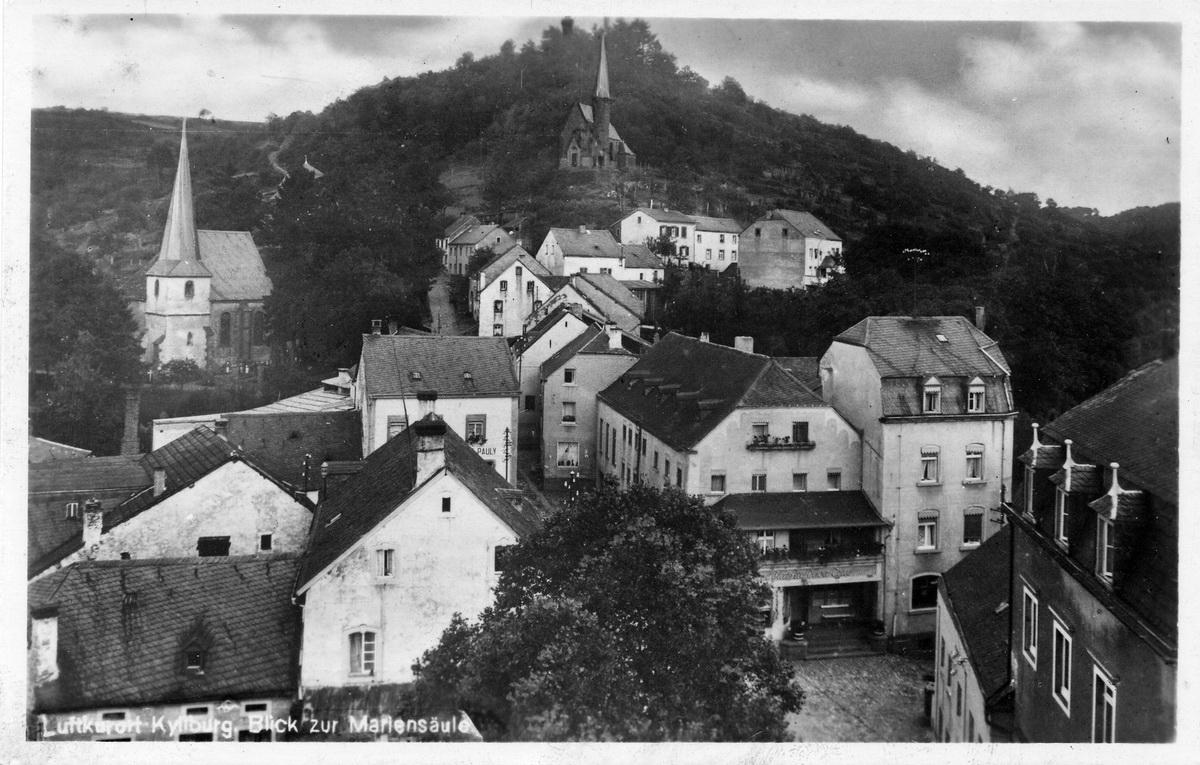 1942-Blick-zur-Mariensaeule