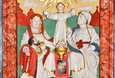 Detail Annenaltar von Adam Donner in der Kyllburger Stiftskirche