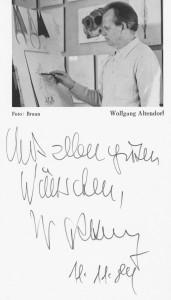 Original Autogrammkarte Wolfgang Altendorfs