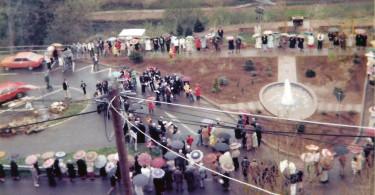 Einweihung des Springbrunnens in Kyllburg