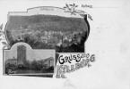 1899 Mehrbildkarte Burg Kyllburg